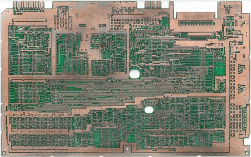 C128 PCB, front without soldermask